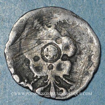 Monnaies Haguenau. Pfennig à la rose et à l'aigle bicéphale (fin 16e)