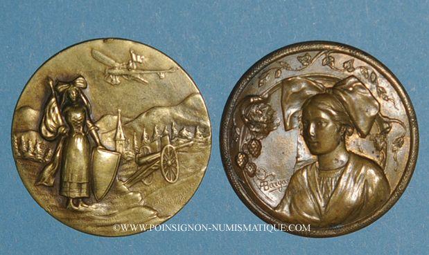 Monnaies L'Alsace libérée. Lot de 2 repoussés unifaces
