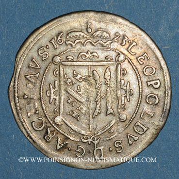 Monnaies Landgraviat d'Alsace. Ensisheim. Léopold V (1619-1632). Duplex (doppelplappart) 1623