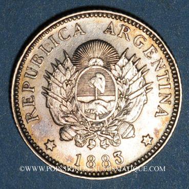 Monnaies Argentine. République. 20 centavos 1883