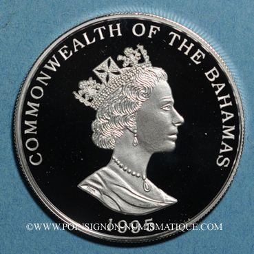 Monnaies Bahamas. 2 dollars 1995.  (PTL 925/1000. 23,33 g)