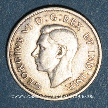 Monnaies Canada. Georges VI (1936-1952). 10 cents 1945