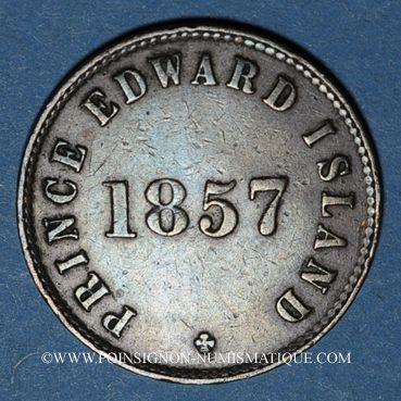 Monnaies Canada. Ile du Prince Edouard. 1/2 penny 1857