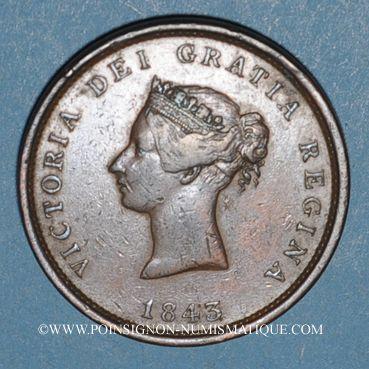 Monnaies Canada. Nouveau-Brunswick. 1 penny token 1843