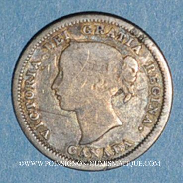 Monnaies Canada. Victoria (1837-1901). 5 cents 1858