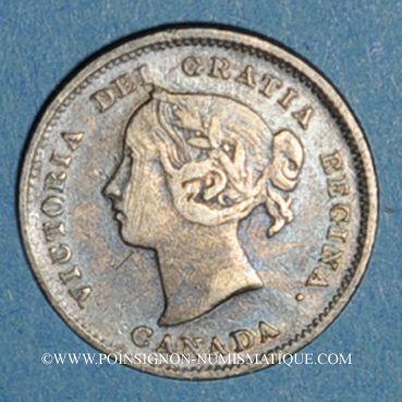 Monnaies Canada. Victoria (1837-1901). 5 cents 1885