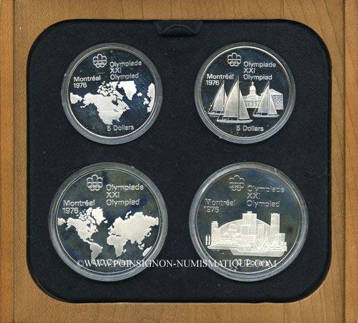 Monnaies Canada. XVI Olympiade. Série commémorative I. 1973