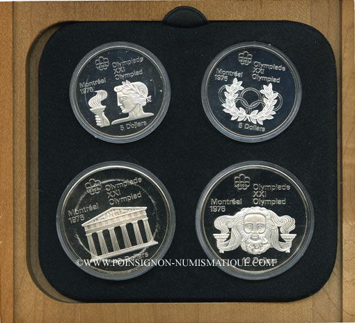 Monnaies Canada. XVI Olympiade. Série commémorative II. 1974