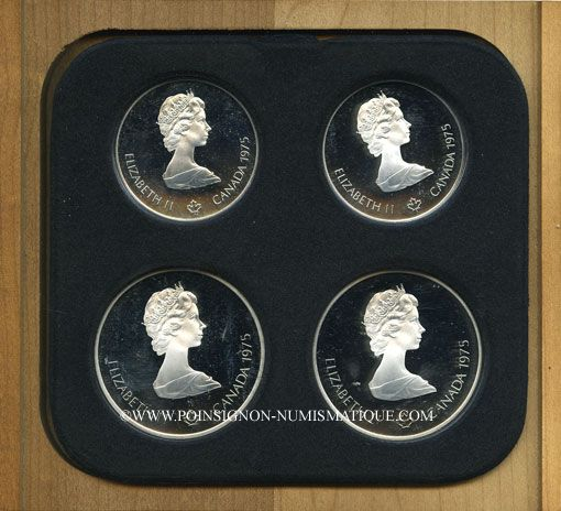 Monnaies Canada. XVI Olympiade. Série commémorative V. 1975