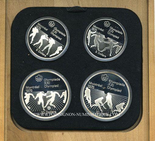 Monnaies Canada. XVI Olympiade. Série commémorative VI. 1976