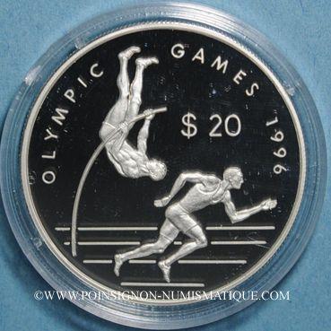 Monnaies Iles Cook. Elisabeth II. 20 dollars 1996. (PTL 925/1000. 31,47 g)