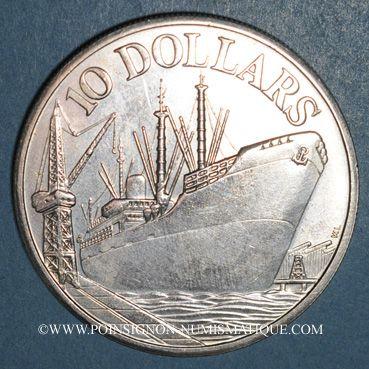 Monnaies Singapour. 10 dollars 1975