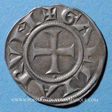 Monnaies Lyonnais. Archevêché de Lyon. Monnayage anonyme (vers 1200-1260). Denier. Type avec GALLIARVM