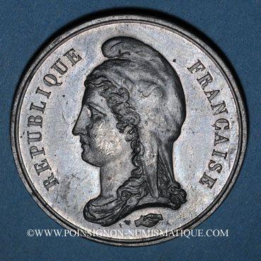Monnaies Guerre de 1870-1871. Pouyer-Quertier, ministre des finances. Médaille étain. 46 mm
