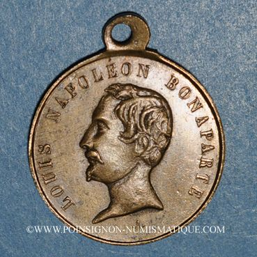 Monnaies Révolution de 1848. Vote du Plébiscite 1851. Médaille cuivre. 23,71 mm