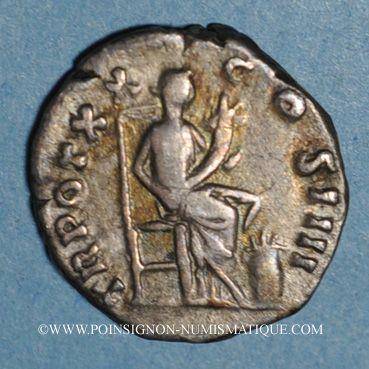 Monnaies Antonin le Pieux (138-161). Denier. Frappe barbare