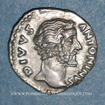 Monnaies Antonin le Pieux (138-161). Denier. Rome, 161. Frappé sous Marc Aurèle. R/: aigle
