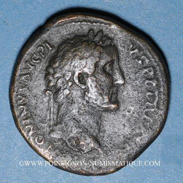 Monnaies Antonin le Pieux (138-161). Sesterce. Rome, 153-154. R/: la Liberté debout à droite