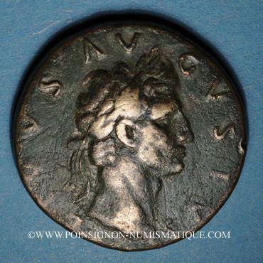 Monnaies Auguste (27 av. - 14 ap. J-C). Sesterce frappé sous Nerva. Rome, 96.