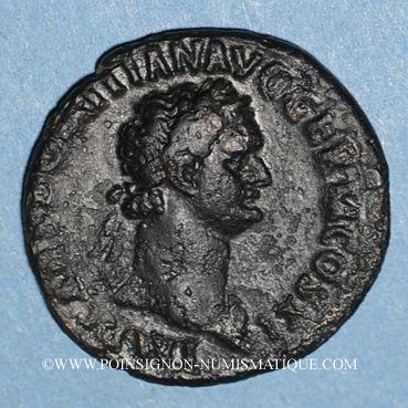Monnaies Domitien (81-96). As. Rome, 85. R/: autel