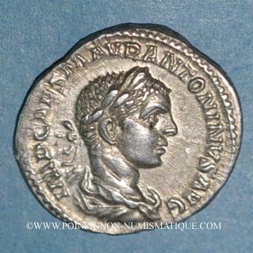 Monnaies Elagabale (218-222). Denier. Rome, 218-219. R/: la Santé