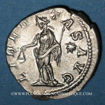 Monnaies Elagabale (218-222). Denier. Rome, 220-221. R/: la Liberté debout à gauche