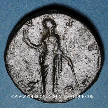 Monnaies Faustine mère, épouse d'Antonin le Pieux († 141). Sesterce. Rome, après 141. R/: Vesta voilée debout