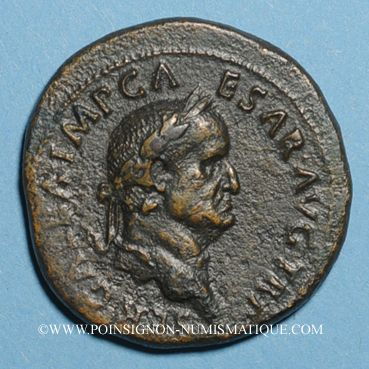 Monnaies Galba (68-69). Sesterce. Rome, 68-69. R/: SPQR / OB / CIV.SER dans une couronne de chêne