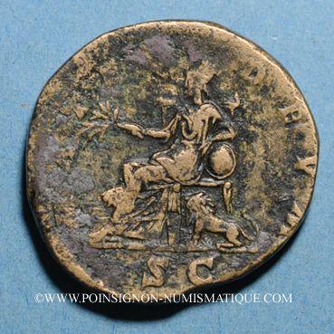 Monnaies Julia Domna, épouse de Septime Sévère († 217). Sesterce. Rome, 198. R/: Cybèle tourelée