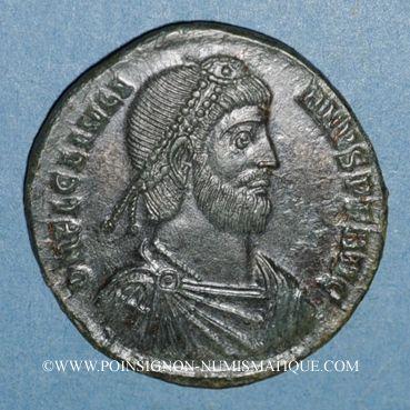 Monnaies Julien II le philosophe (360-63). Double maiorina. Cyzique, 1e officine, 362-363. R/: taureau à dr.