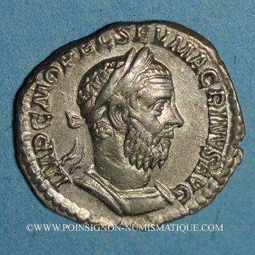 Monnaies Macrin (217-218). Denier. Rome, 217-218. R/: Jupiter