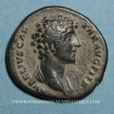 Monnaies Marc Aurèle, césar sous Antonin (139-161). As. Rome, 147. R/ Minerve