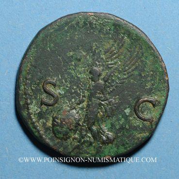 Monnaies Néron (54-68). As. Lyon, 66. R:/ Victoire