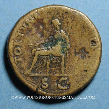Monnaies Nerva (96-98). Sesterce. Rome, 97. R:/ la Fortune