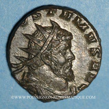 Monnaies Postume (260-269). Antoninien de poids lourd frappé par Auréolus. Milan, 268. R/: la Concorde