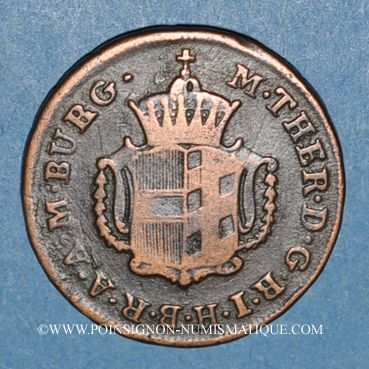 Monnaies Autriche. Burgau. Marie-Thérèse (1740-1780). 1/2 kreuzer 1772G. Günzbourg