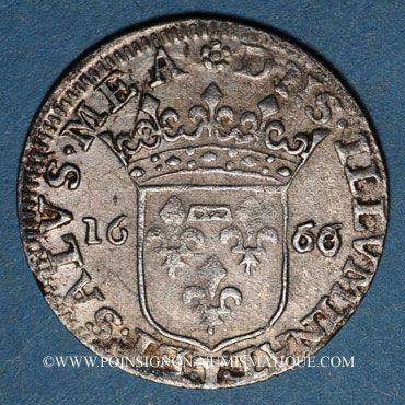 Monnaies Italie. Tassarolo. Livia Centurioni Oltremarini (+ 1688). 1/12 écu (luigino) 1666/58. Var. inédite !