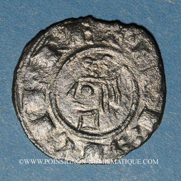 Monnaies Sicile. Les Suèves. Frédéric II (1197-1250). Denier. Messine, vers 1225