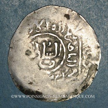 Monnaies Afghanistan. Shahs du Khwarezm. Muhammad (596-617H). Dirham, sans attribution. (Balkh ?)