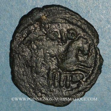 Monnaies Palestine. Umayyades, vers 115-125H. Fals anonyme au protomé de cheval