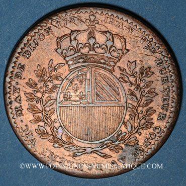 Monnaies Bourgogne. Mairie de Dijon. J. Burteur. Jeton cuivre 1733