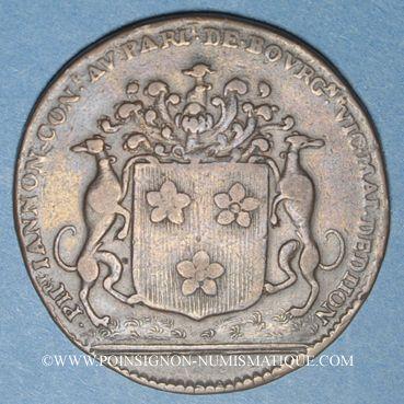 Monnaies Bourgogne. Mairie de Dijon. Ph. Jannon. Jeton cuivre 1693