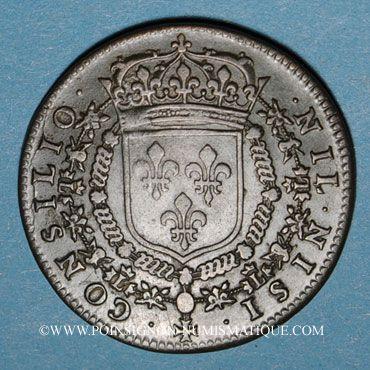 Monnaies Conseil du Roi. Louis XIV. Jeton cuivre 1661