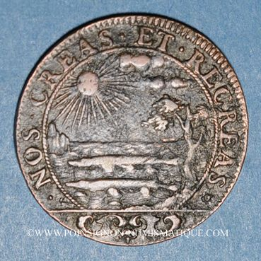 Monnaies Etats d'Artois. Prise d'Arras. Louis XIV (1643-1715). Jeton cuivre n. d.