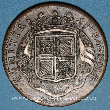 Monnaies Etats de Bourgogne. Claude de Vitte, maître ordinaire à la Chambre des Comptes. Jeton cuivre 1710
