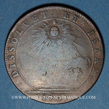 Monnaies Etats de Bourgogne. Félix Sonois, maire de Nuitz, élu du Thiers. Jeton cuivre 1701