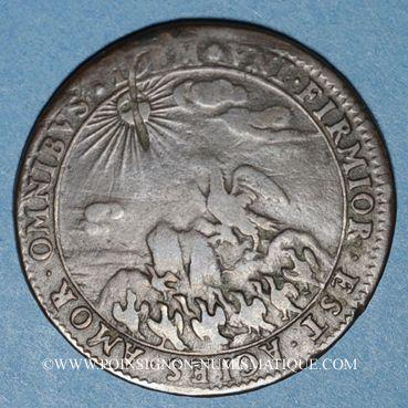 Monnaies Etats de Bourgogne. Jeton cuivre 1671