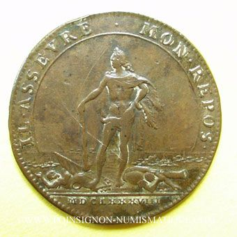Monnaies Etats de Bourgogne. Jeton cuivre 1688