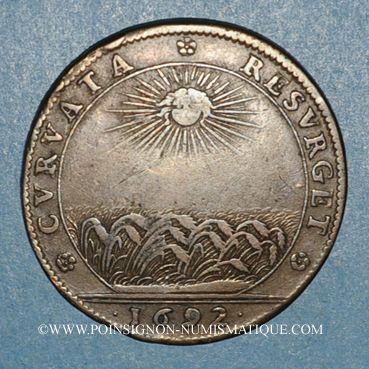 Monnaies Etats de Bourgogne. Jeton cuivre 1692