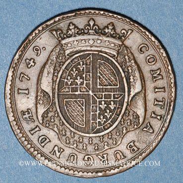Monnaies Etats de Bourgogne. Jeton cuivre 1749